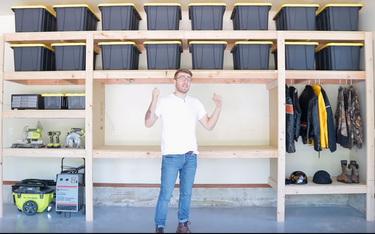 Astounding Diy Garage Storage Shelf Workbench Solution Machost Co Dining Chair Design Ideas Machostcouk